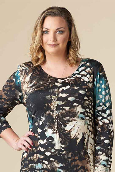Fly Away Tunic, Women Plus Size Tops, Women Plus Size Dresses,<link rel='canonical' href='https://redtulipboutique.com/fly-away-tunic-leaf-print/' />